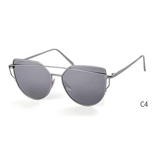 ZRTYJ Sonnenbrille Cat Eye Sonnenbrille Frauen Markendesign 90S Vintage Pink Gold Metall Lady Optische Gläser Rahmen Gefälschte Klare Brille