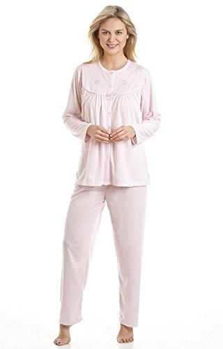 La Marquise Cuddleknit brodé Lenoge 1513N pour pyjama Rose - Rose