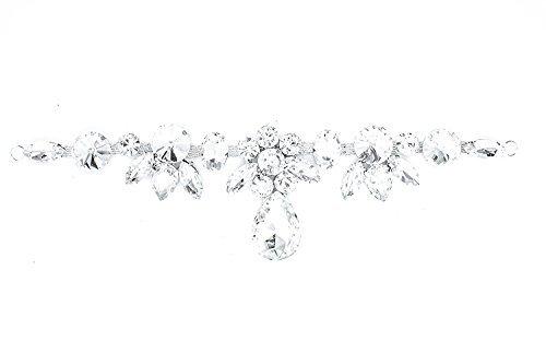 Strassstein Motiv Strass Kristalle Zum aufnähen Applikation Flicken - Perfekt für Hochzeit Braut Kleid, Freizeit oder Formelle Bekleidung Mode-accessoires 180mm x 50 mm (ca.) Patch Nr. A130