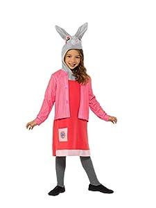 Smiffys 48735S Disfraz de Peter Rabbit con licencia oficial, disfraz de lujo de Lily Bobtail, para niñas