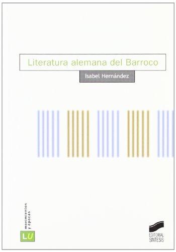 Literatura Alemana del Barroco NB Cover Image