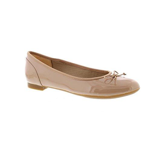 Damen Ballerinas Nude Beige Patent 261339924 Bloom Clarks Couture ZOwxdqvv