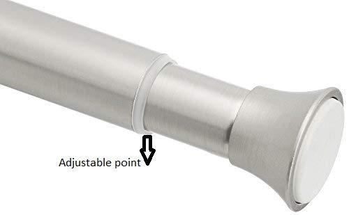 AmazonBasics Tension Shower Doorway Gardinenstange, 60,9 - 91,4 cm, Nickel