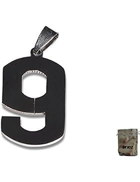 Original Enez Halsketten Edelstahl Anhänger Zahl 9 3,0cm R1727 + Geschenkbeutel