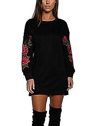 Vestito Felpa Donna Maglia Manica Lunga Elegante Moda Vestitini Autunno  Inverno Camicie Blusa Felpe Tumblr Lunghe Ragazza Sweatshirt… 4bea134e0ed