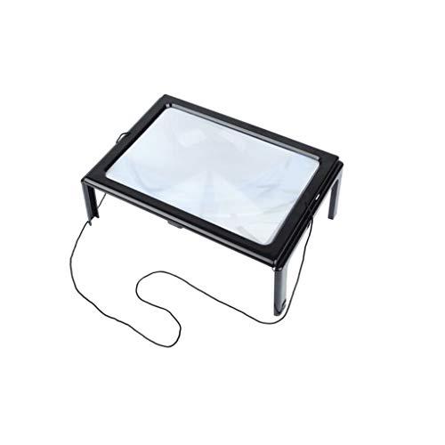 Beleuchtetes Vergrößerungsglas mit LED-Licht Große Spiegel-Lesetisch zur Skalenmessung...