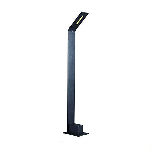 10w-kandelaber (10W LED Energiespar-Wegeleuchte | Pollerleuchte | Wegelampe | Sockelleuchte Gartenleuchte | Außenleuchte | Aluminiumguss | Außenlampe Gartenlampe IP44 warmweiß 3000K 700 lm | 71.4 cm hoch | Schwarz)