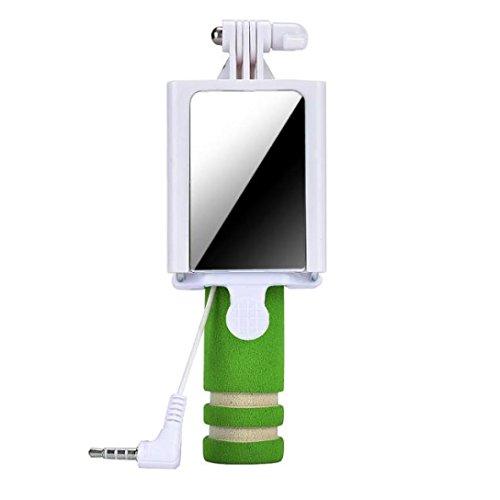 Tefamore Palo Selfie Mini cámara Handheld del monopio del palillo de Selfie para el borde de la galaxia S7 de Samsung (Verde)