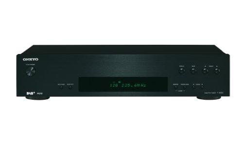 Onkyo T-4030(B) DAB+/DAB/FM-Tuner (Digitalradio, 40 Senderspeicher, RDS, hohe Klangqualität, VLSC zur Pulsrauschunterdrückung, hochwertiges Design mit Gerätefront aus Aluminium), Schwarz
