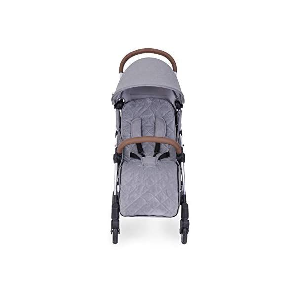 Ickle Bubba Globe Max Baby Stroller | Lightweight and Portable Stroller Pushchair | Folds Slim for Ultra Compact Storage | UPF 50+ Extendable Hood, Footmuff and Rain Cover | Grey/Silver Ickle Bubba ONE-HANDED 3 POSITION SEAT RECLINE: Baby stroller suitable from birth to 15kg-approx. 3 years old; features luxury soft quilted seat liner, footmuff, cupholder, and rain cover UPF 50+ RATED ADJUSTABLE HOOD: Includes a peekaboo window to keep an eye on the little one; extendable hood-UPF rated-to protect against the sun's harmful rays and inclement weather ULTRA COMPACT AND LIGHTWEIGHT: Easy to transport, aluminum frame is lightweight and portable-weighs only 6.4kg; folds compact for storage in small places-fits in aeroplane overhead; carry strap and leather shoulder pad included 9