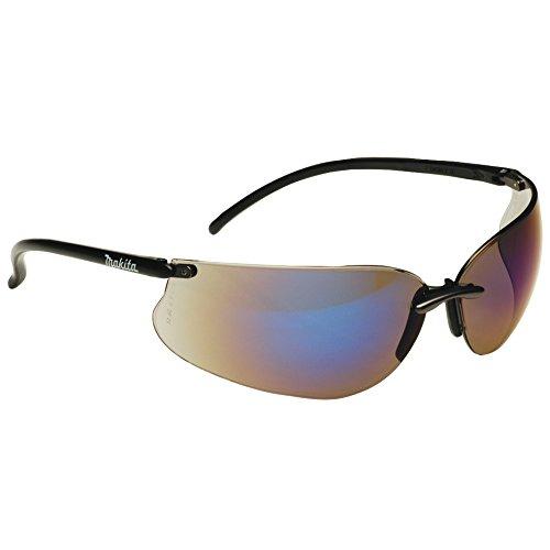 Makita P-66307 Design Sonnenbrille/Arbeitsschutzbrille, blau inklusiv Brillen - Etui und Putztuch
