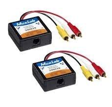 MuxLab 500039-2PK Stereo Hi-Fi Video Balun Male, 2-Pack by Muxlab -