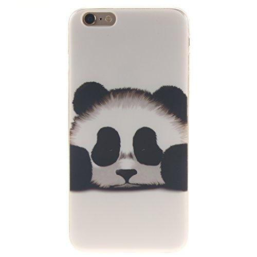 Ooboom® iPhone 5SE Hülle TPU Silikon Gel Ultra Dünn Schutzhülle Handy Tasche Case Cover für iPhone 5SE - Löwe Schwarz Panda