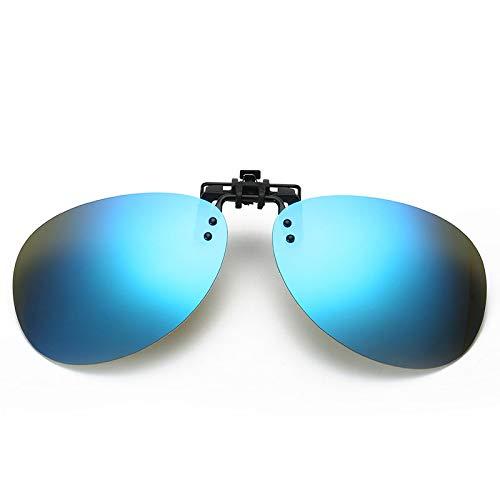 SQYJING Sonnenbrille Polarisierter Clip für Herren Flip-Flop-Sonnenbrillen für Männer Handschuhe für Männer, die die Sonne Angeln Brille Shades Outdoor Pilot UV400 Eyewear, Spiegel Pink