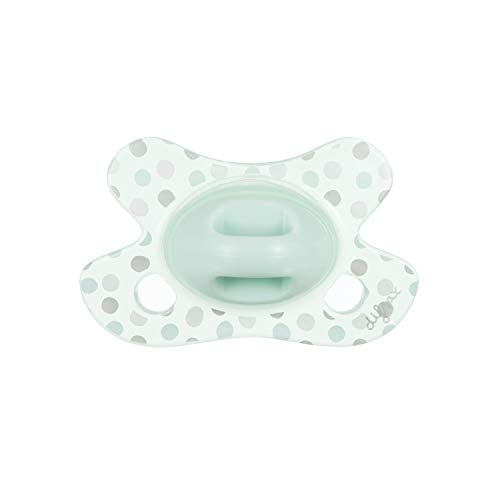 Difrax 113B09 Schnuller - Natural - Newborn - Cotton, grün