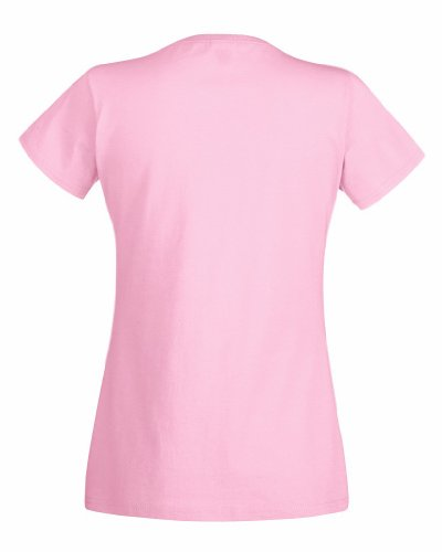 Fruit Of The Loom - Maglia Manica Corta - Donna Small,Pink - Light pink
