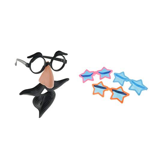 FLAMEER 2 Arten Halloween Brille Kostüm Party Brillen