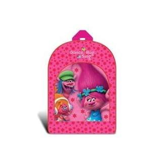 Producto oficial de trols Poppy Dance Hug cantar Light Up Flashing rosa niñas mochila bolso de escuela
