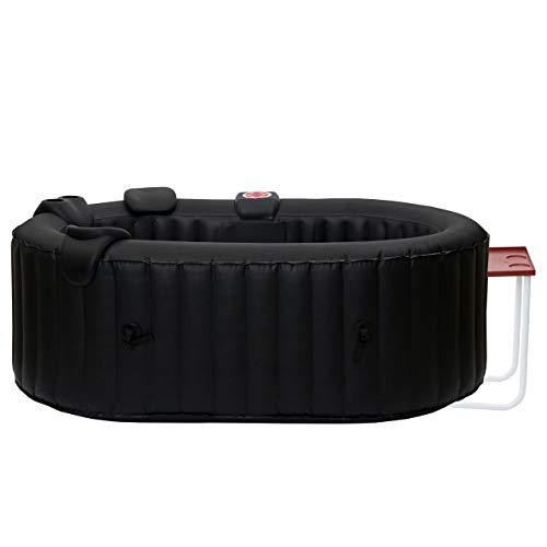 Mendler Whirlpool HWC-E32, 2 Personen In-/Outdoor heizbar aufblasbar inkl. Tisch 190x120cm FI-Schalter + Zubehör