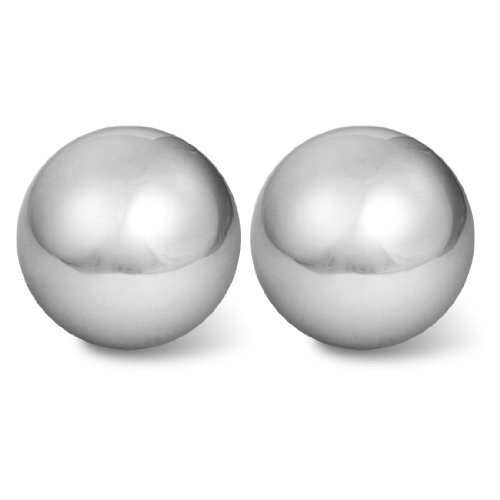 """sourcingmap® Stress Relief Hand Palm Exersice 2\"""" Dia Chime Massage Ball 2 Pcs"""