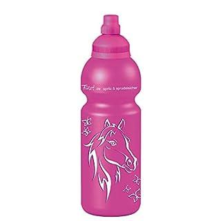 Fizzii Kinder- und Freizeittrinkflasche 600 ml (auslaufsicher bei Kohlensäure,  schadstofffrei, spülmaschinenfest, Motiv: Pferdekopf)