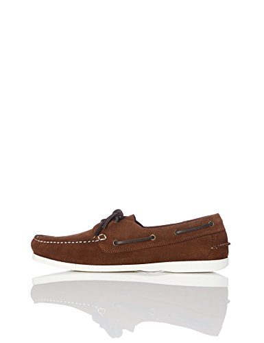 find. Scarpe da Barca Uomo, Marrone (Dark Brown), 43 EU