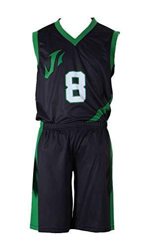 Chong Seng CHIUS Cosplay Costume Jersey Set for Last Game No. 8 Jason Silver (Jason Kostüm Kid)