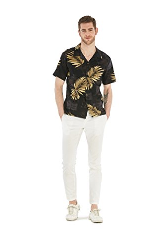 Hawaii-Hangover-camisa-hawaiana-camisa-de-X-Large-negro-de-los-hombres