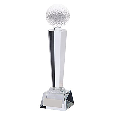 Crystal Golf Ball Tower Interceptor Awards 9.5 inch