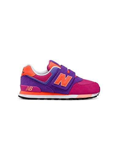 New Balance Kv574czy M Hook and Loop, Baskets Basses Mixte Enfant Aubergine