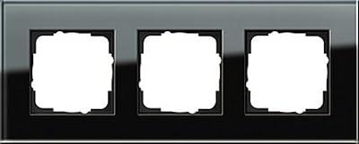 Gira 021305 Rahmen 3-fach Esprit Glas, schwarz von Gira - Lampenhans.de