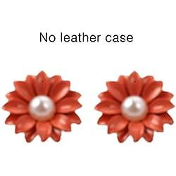 Fashion Korean Style Luxurious Pearl Daisy Flower Ear Nail Earrings Women Fashion Fine Jewelry for Daily Wear