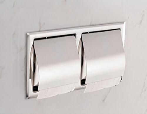 Wandeinsatz 304 Edelstahl Doppelrollenhalter, Hotelbad Gewebekasten, Handtuchhalter, Toilettenpapierhalter
