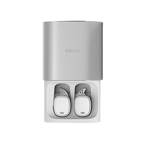 Mengonee QCY T1 PRO TWS de negocios Auriculares Auriculares Bluetooth Auriculares inalámbricos con micrófono 3D llamadas en manos libres con cancelación de ruido