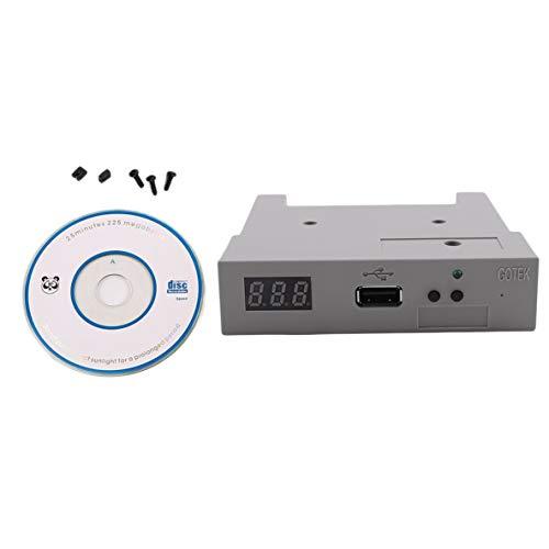 Noradtjcca Professionelle DC5V 3,5 Zoll 1000 Diskettenlaufwerk USB Externe Emulator Simulation Neue 1.44 MB Roland-Tastatur mit CD-Treiber