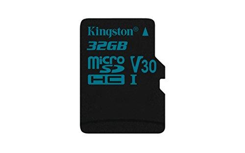 Kingston SDCG2/32GBSP Canvas Go microSD Karte (ohne SD-Adapter, Einfangen eines Lebens in Bewegung)