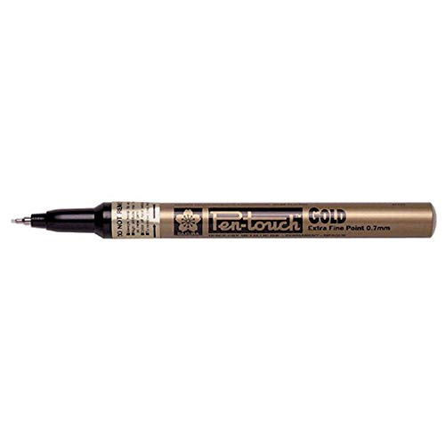 Sakura-Pen-Touch Calligrapher Paint Marker-Extra Fein 0,7mm-gold-3Pack