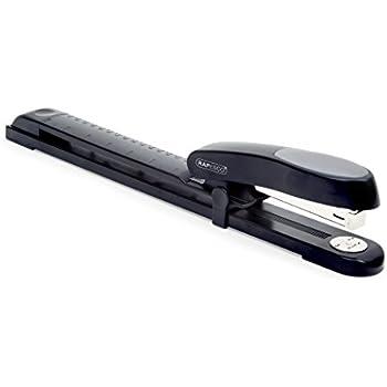 Rapesco Agrafeuse Long Bras 300mm Manta Ray à Grande Capacité (Agrafes 24/8mm et 26/8mm) Noire