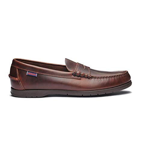 Sebago Men's Thetford Leather Loafers Brown in Size 43 R