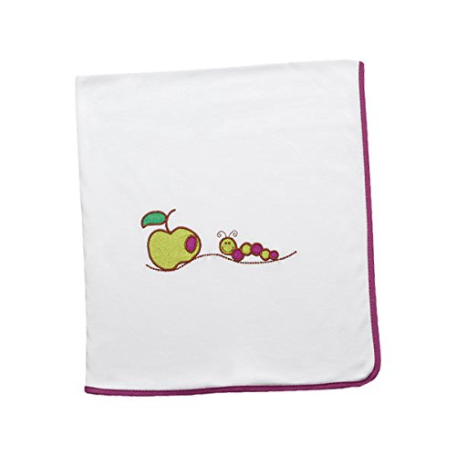 Arrullo para bebé punto de algodón (80x80 cm) CUC Morado