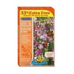 Mélange de graines pour fleurs sauvages et colorées - Idéal pour attirer les papillons et les abeilles