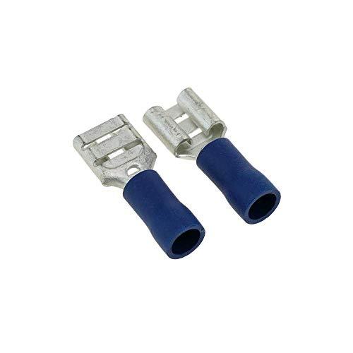 BeMatik - Terminal Faston Hembra Azul (6.3mm) 100 Pack