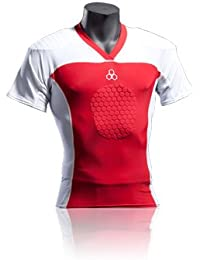 McDavid 772 HexPad Rugby Shirt Elite white/red