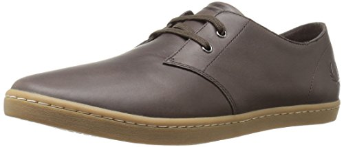 Fred Perry Authentics Byron Low Leather Shoes CHOCOLATE 9