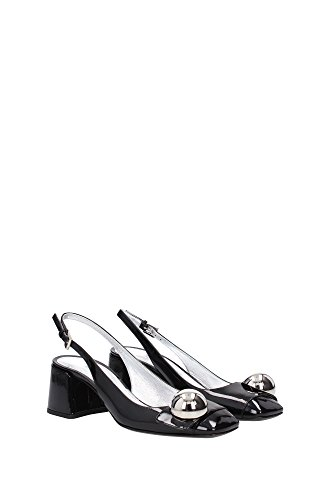 1I743GNERO Prada Sandale Femme Cuir Verni Noir Noir