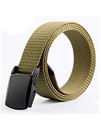 Cinturón De Lona Para Hombre Cinturón De Regalos Elegante Hombres Hebilla  Lona Nner Automática Cinturón Hombres 384551fb4377