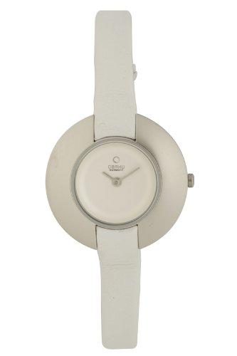 Obaku Harmony - V135L CIRW - Montre Femme - Quartz - Analogique - Bracelet cuir Blanc