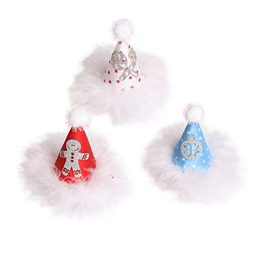 (Weihnachtsmütze Haarnadel Urlaub Haarspangen in Ostern, Valentines, Thanksgiving & Weihnachten Themen für Baby, Kleinkind & Mädchen Kind Haarnadel Hut Karte Weihnachtsfest)