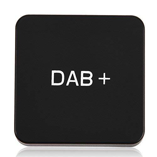 Richer-R Auto DAB+ Digital Radio Adapter, Digital Audio Broadcast DAB DAB+ Autoradio Empfänger Adapter,Externe DAB+ Digitalradio Box mit Antenne für Android Schwarz
