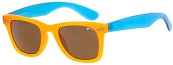 Lunettes de soleil Femme Fille Unisex Hawai RELAX/Taille: Small/R2302 (Orange-Blue / Smoke Mirror R2302A)